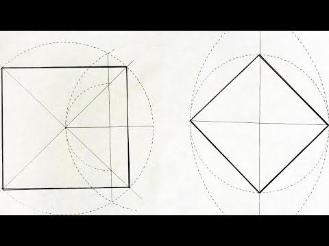 Как вписать квадрат в окружность с помощью циркуля
