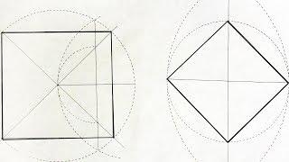 Как построить квадрат, два способа