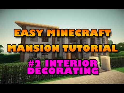 how to build a mansion in minecraft easy