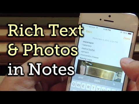 Bold, Italicize, & Underline Text & Add Photos to Your Notes in iOS 8 [How-To]