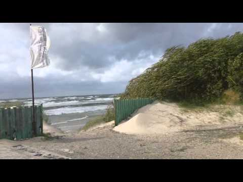 Uraganas KATIA Palangoje