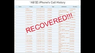 How to Recover Call History on iPhone? EASY! [100% Works!]
