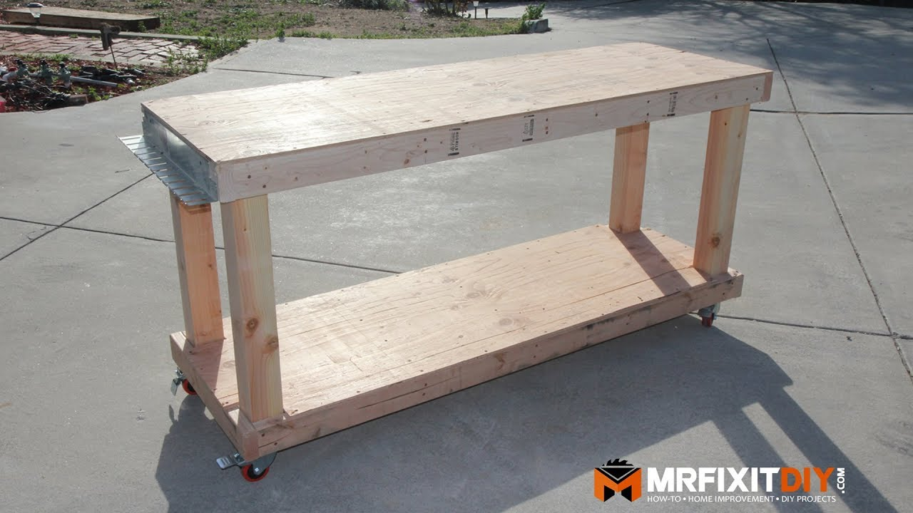 Diy Workbench With Wheels Diy Budget Friendly Workbench Free Downloadable Plans