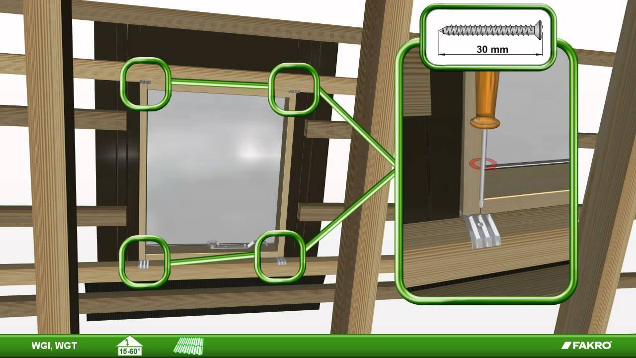 fakro fen tre de toit tabati res standards wgi et wgt youtube. Black Bedroom Furniture Sets. Home Design Ideas