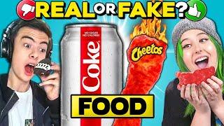 Real Vs. Fake Food Challenge | People Vs. Food