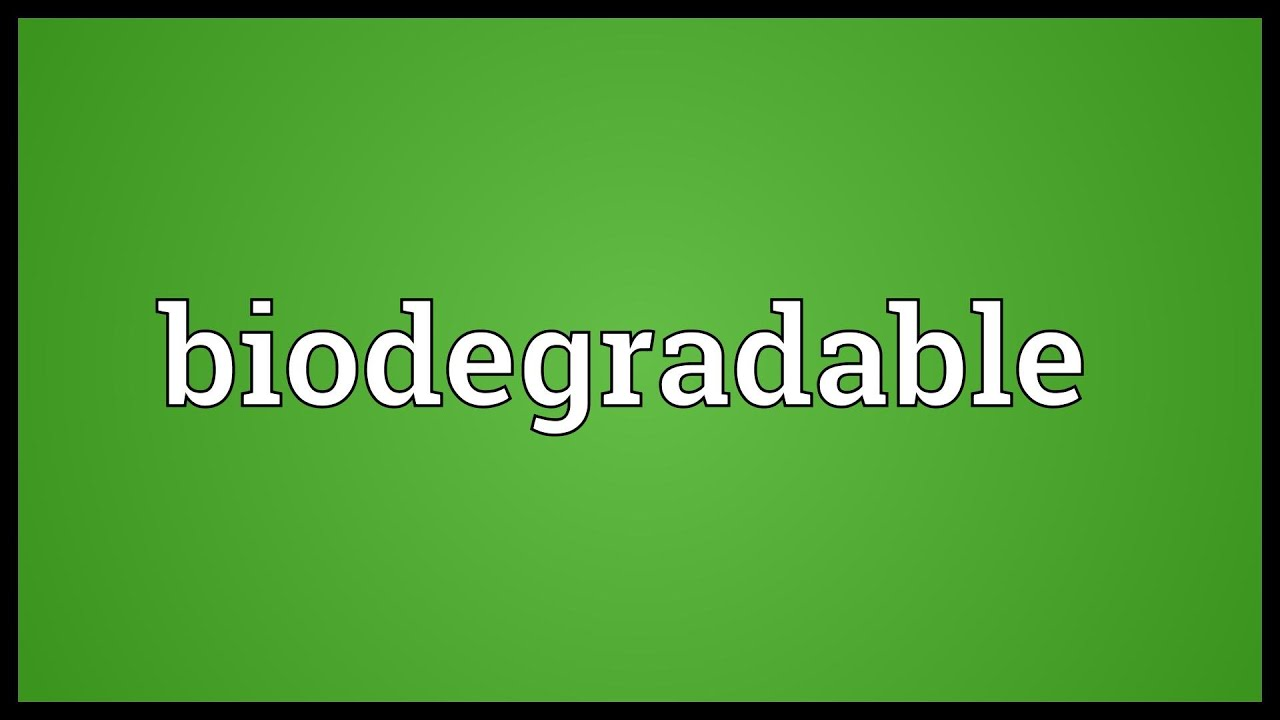 biodegradable and nonbiodegradable materials pdf