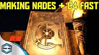 Ark Survival Evolved Making Nades & C4 Fast Ep.37