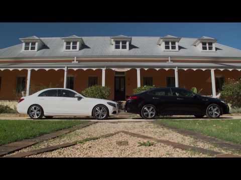 Mercedes Benz C200 and Kia Optima GT