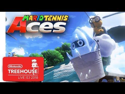 Mario Tennis Aces Gameplay Pt. 3 - Nintendo Treehouse: Live | E3 2018