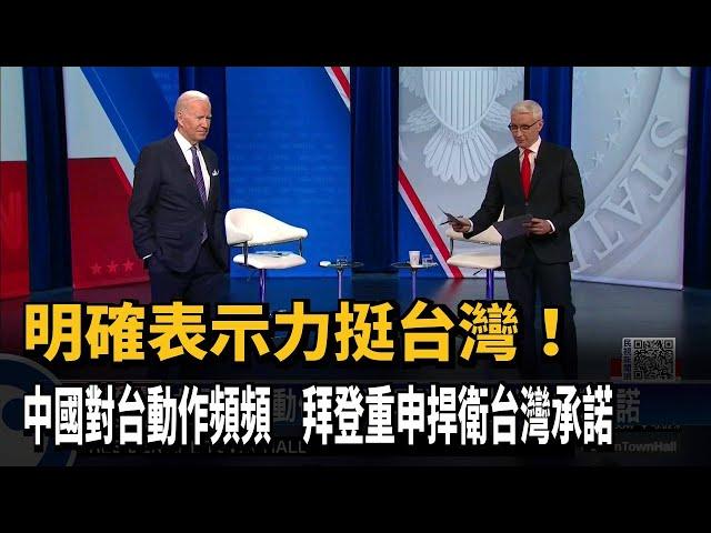 中國對台動作頻頻 拜登重申捍衛台灣承諾-民視台語新聞