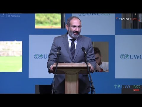 UWC Dilijan is a Spot of Optimism and Inspiration: Nikol Pashinyan