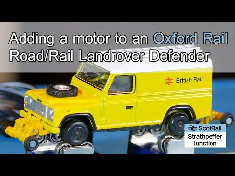 #10 Adding a motor to Oxford Rail road/rail Landrover Defender