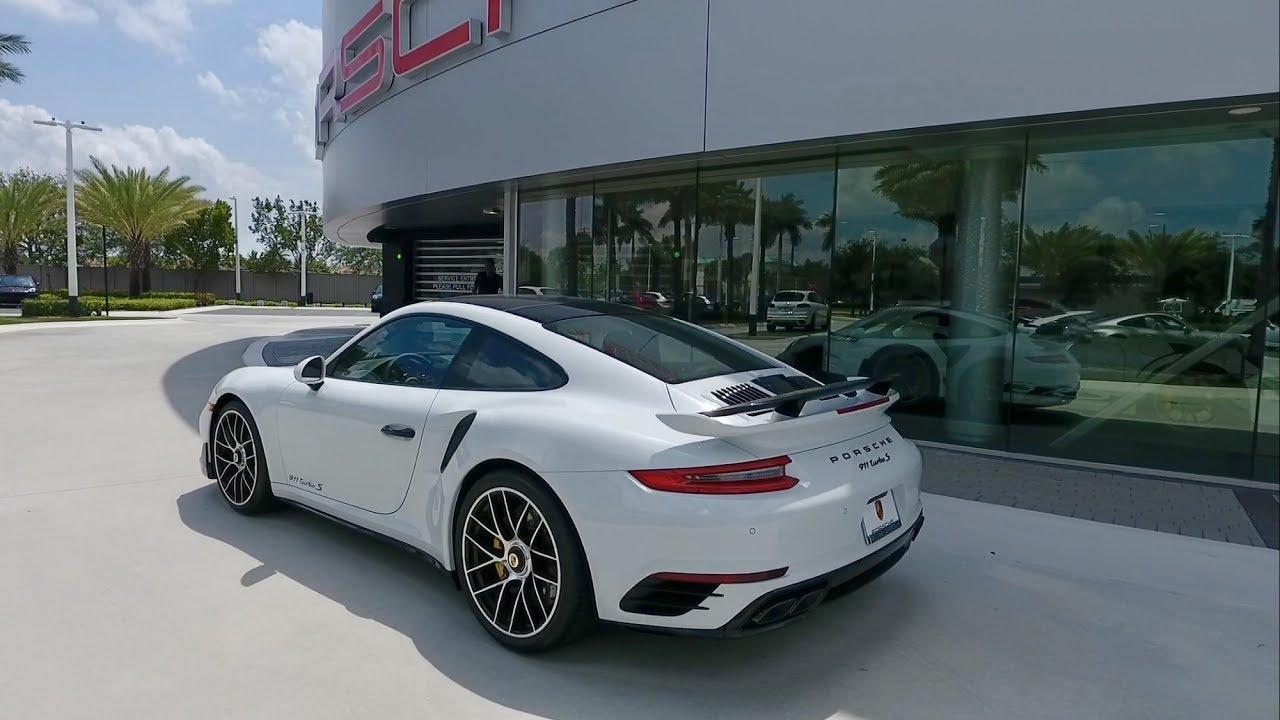 2017 Carrara White Porsche 911 Turbo S 580 Hp West Broward