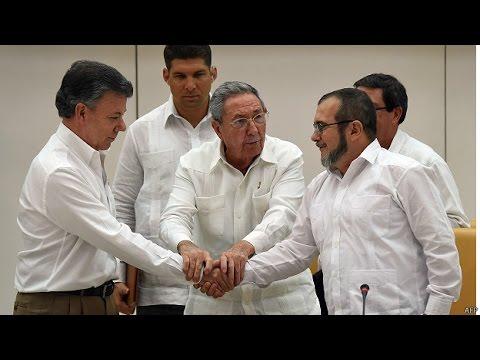 Firman histórico acuerdo de paz entre Colombia y las FARC #AdiósAlaGuerra