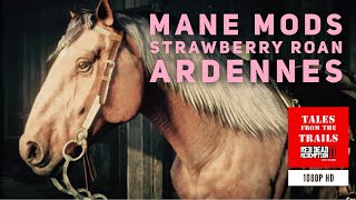 🗣RDR2: Mane Modifications Strawberry Roan Ardennes War Horse 1080p HD - Red Dead Redemption 2