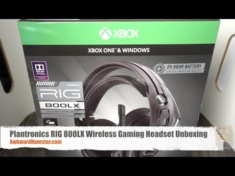 Plantronics RIG 800LX Wireless Gaming Headset Unboxing