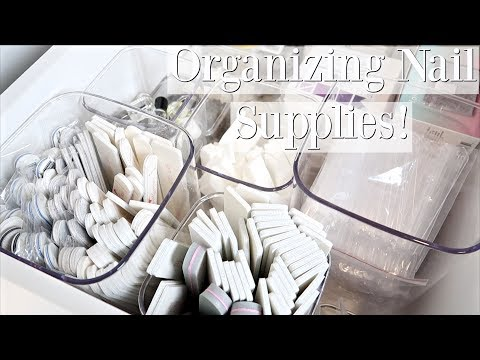 How to Organize Your Nail Supplies!