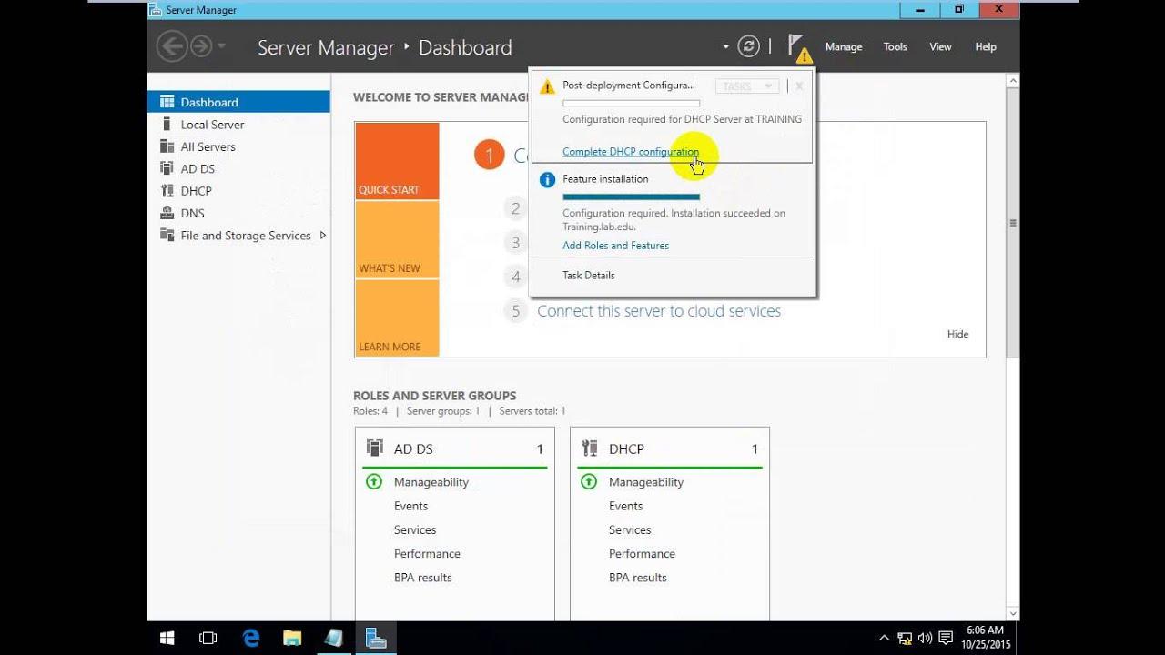 windows 10 pro as dhcp server