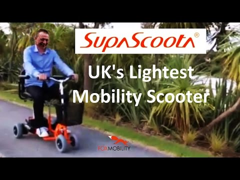 The UK's lightest mobility scooter - 'SupaScoota' The 4 mph portable lightweight 'boot' scooter