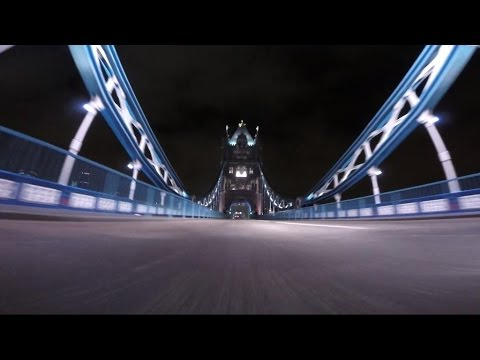 Driving in London - Tower Bridge by night