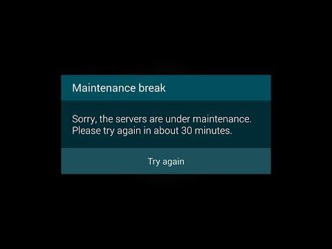 Maintenance Break Clash of Clans