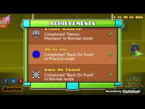 All The Geometry Dash Achievements 2019😁