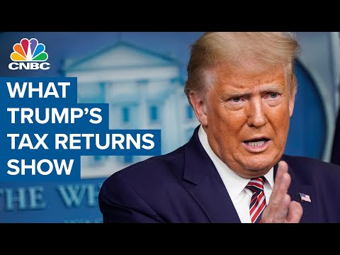 President Donald Trump tax returns show large income offset by large losses