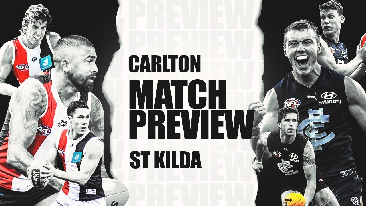 AFL Round 5, 2020   Carlton V St Kilda   Preview