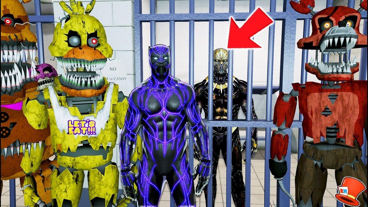 NIGHTMARE ANIMATRONICS & BLACK PANTHER TAKE KILLMONGER TO JAIL! JAILBREAK  (GTA 5 Mods FNAF) - YoutubeDownload pro