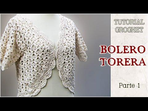 Bolero o Torera tejida a crochet 5d489ed43a5d