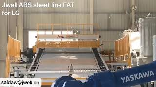 ABS sheet line for refrigerator for LG company