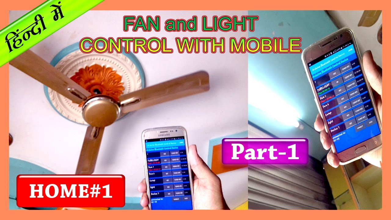 Home1 Control Fan And Light With Your Android Mobile Phone Using Ceiling Wiring In New Construction2setsswitchesfanlight3jpg Arduino Home Automation