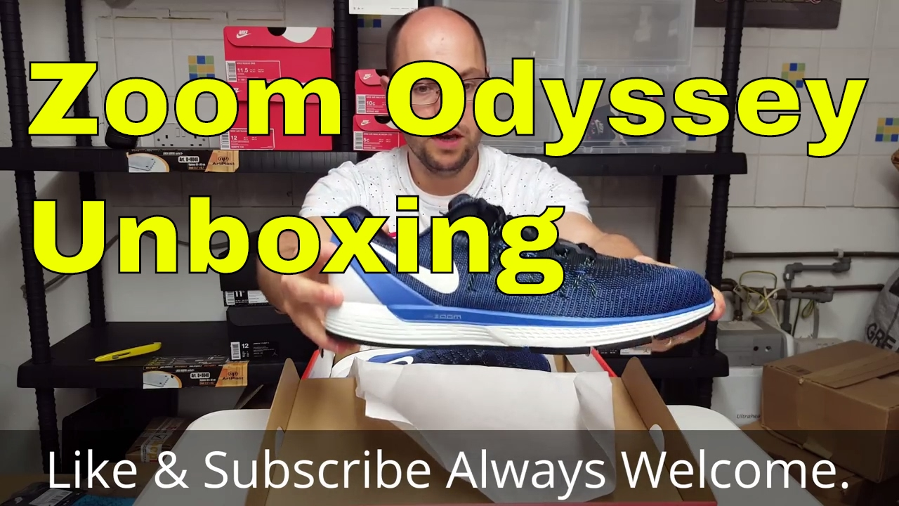 Mail Opening Nike Air Zoom Odyssey 2 Men's Running Shoe Unboxing
