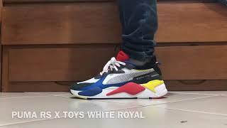 PUMA RS X TOYS WHITE ROYAL ON FEET