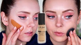 10 FOUNDATION LA GIRL Matte Foundation Review