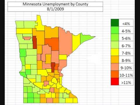 Map: Minnesota Unemployment October 2013