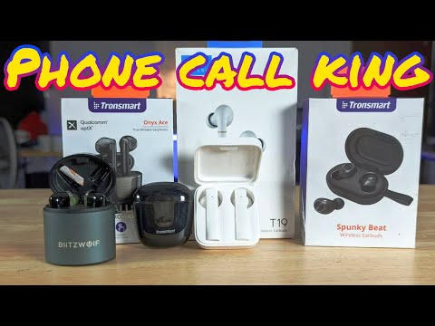 Finding The Best Bluetooth Headphones For Phone Calls, Tronsmart Onyx Ace, Mi Air 2 SE, Haylou T19,