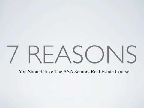 ASA Accredited Senior Agent Seniors Real Estate Program in Mississauga June 2012