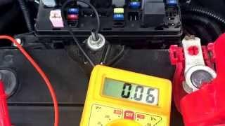 Замер утечки тока в моем Chevrolet Aveo T250(В этом видео я наглядно измерил