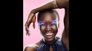 Portrait of African American fashion model. Fashion Photography