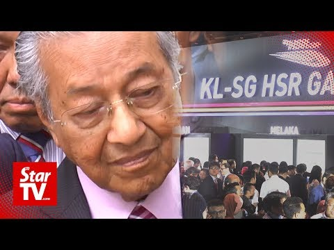 Dr M: Malaysia does not need high-speed rail for now