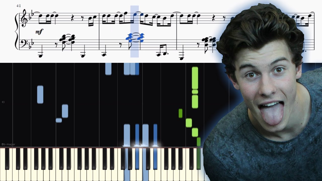 Shawn Mendes - Lost In Japan - Piano Tutorial + SHEETS - YouTube