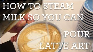 How to steam milk so you can pour latte art