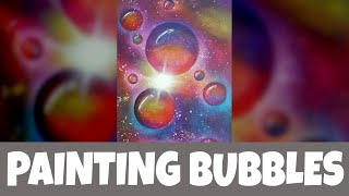 How to paint abstract bubbles with acrylics - detailed version