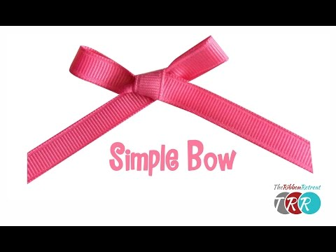How to Make a Simple Bow - TheRibbonRetreat.com