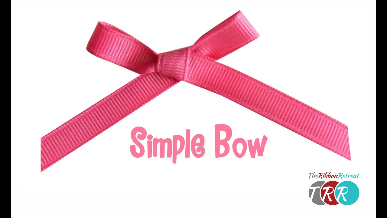 How to Make a Simple Bow - TheRibbonRetreat.com - YouTube