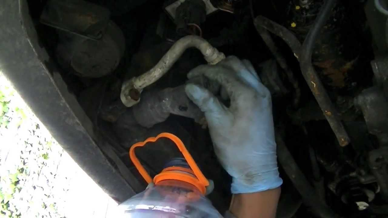 How To Drain A Vw Radiator Coolant Flush Youtube