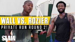 John Wall vs. Terry Rozier ROUND 2! Private NBA run with #remyworkouts