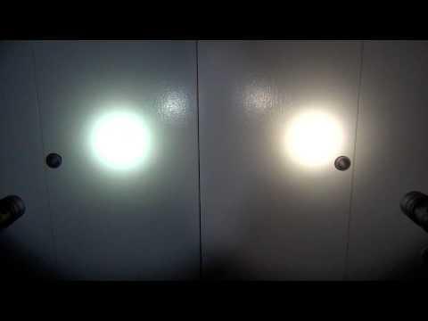 Cool White Vs  Neutral White LED's In Flashlights (Thrunite TN12 Models)