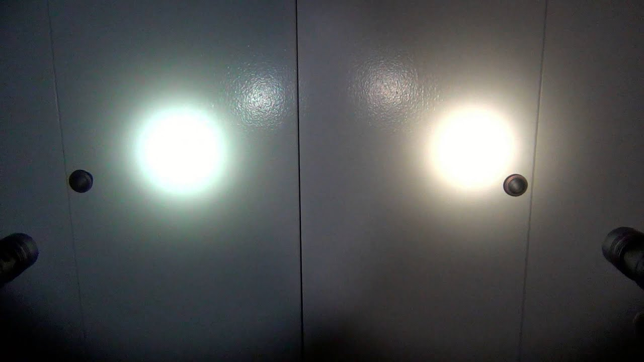 Cool white vs warm white led lights - Cool White Vs Neutral White Led S In Flashlights Thrunite Tn12 Models Youtube